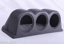 Black Triple Gauge Pod Universal 3 Gauges Holder 52mm Mount A Cup Dash Pillar