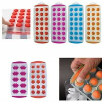 NEW HOT Ice Cube Tray Easy Pop out Maker Plastic Silicone Top Mould 21 Jelly