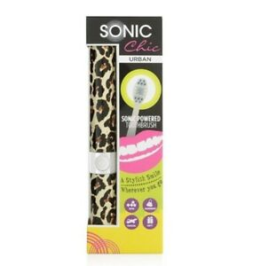 Sonic Chic Urban Sonic Powered Toothbrush Travel Gym Footballs Design Gift
