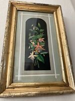 Beautiful Early 19th/late 18th Cent. Still Life Floral Watercolor Framed, MB343