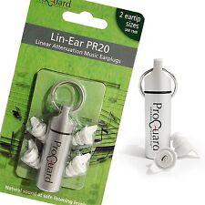 PROGUARD LIN-EAR PR20 Earplugs For Musicians, DJ's, Music Lovers Etc - Ear Plugs