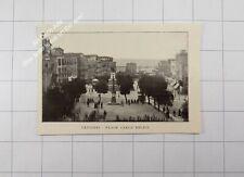 1912 Sardegna , Cagliari , la piazza Carlo Felice - Sardaigne / Sardinia