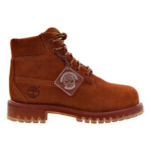 Timberland 6 Inch Premium Waterproof Little Kid's Boots Rust tb0a1ai2