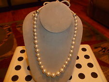 NWOT Ralph Lauren Freshwater White Pearl Necklace with White Rope Extension.