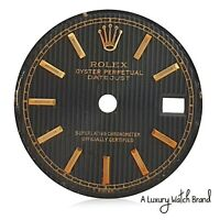 Rolex Original Black Tapestry Index Dial for Datejust 26mm Watch
