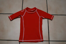 "T-shirt protection UV""TRIBORD""rouge manches courtes T114/121 ou 6 ans comme NEUF"
