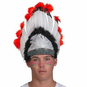 Skeleteen Native American Chief Headdress - Indian Costume Feather Head Dress