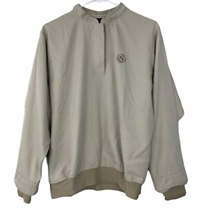 Zero Restriction Golf Outwear Tan Long Sleeve Pullover Size S