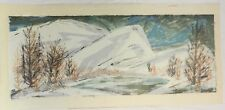 """NORMA FLYNN """" Before Spring""""  Limit. Ed/30 1960s Cal. Serigraph Artist Signed"""