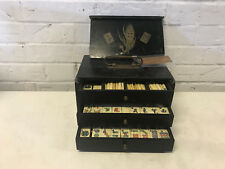 Antique A.L. Reed Co. NY Chinese Mahjong Mah Jong Set 148 Tiles & Other Pieces