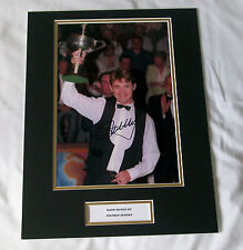 STEPHEN HENDRY SNOOKER WORLD CHAMPION HAND SIGNED AUTOGRAPH PHOTO MOUNT