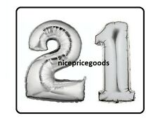 JUMBO 40 INCH FOIL NUMBER 21 21ST HELIUM BALLOON PARTY BIRTHDAYS BALLOONS EVENTS