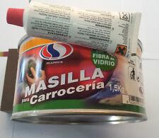 MASILLA PARA CARROCERIA 1.5KG  CON FIBRA DE VIDRIO + ENDURECEDOR. PROFESIONAL
