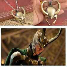 Film Surrounding Necklace Avengers Thor Loki Gold Mask Pendant Helmet Pewter HOT