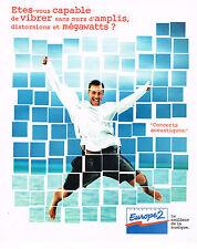 PUBLICITE ADVERTISING  1995   EUROPE 2 radio   les MEGAWATTS