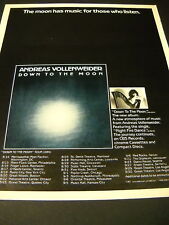 Andreas Vollenweider 1986 Tour Dates Promo Poster Ad
