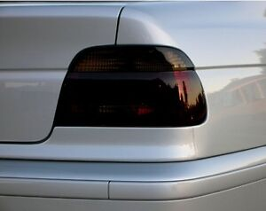 97-03 BMW 5-SERIES E39 528i 540i M5 SMOKE TAIL LIGHT PRECUT TINT COVER OVERLAYS