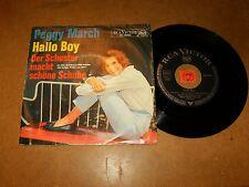 PEGGY MARCH - HALLO BOY - DER SCHUSTER MACHT  - 45 PS / LISTEN -  TEEN GIRL