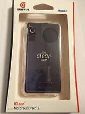 Griffin Mobile iClear case for Motorola Droid 2 A955 2010 model Verizon +Screen
