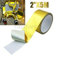 16ft Gold Fiberglass Wrap Tape Shield Roll Exhaust Car Heat Protection Barrier