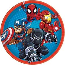 MARVEL SUPER HERO ADVENTURES LARGE PAPER PLATES (8) ~ Birthday Party Supplies