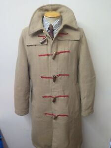 "Vintage Gloverall Wool Duffle Duffel Coat Raincoat Trenchcoat L 42"" Euro 52"