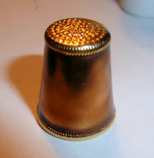 Classic Design Vintage GILT THIMBLE 1970s Simple Abstract