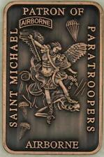 Saint Michael Patron Saint of Paratroopers Copper Army Airborne Challenge Coin