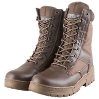 Nitehawk Army/Military Patrol Brown Leather Combat Boots Outdoor Cadet Security