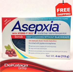 1 JABON ASEPXIA EXFOLIANTE CONTRA ACNE ✅/ SCRUB CLEANSING SOAP BAR FOR ACNE 4 OZ