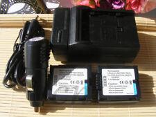 TWO Battery +Charger for Panasonic CGA-DU07 DU06 NV-GS17 SDR-H250 SDR-H20 Cam
