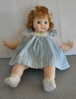 Madame Alexander Vintage 1965 18' Puddin Tagged Dress New Crier