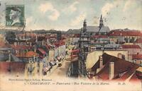 CPA 52 CHAUMONT PANORAMA RUE VICTOIRE DE LA MARNE