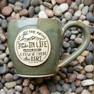 Dirt Road Mug - by Gray Fox Pottery - Similar to Deneen / Death Wish Mugs