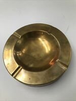 Vintage Brass Cigar Ashtray  - Heavy Large Lounge Man Cave Decor