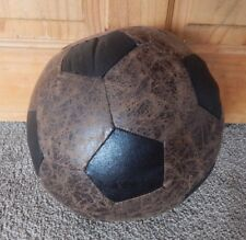 VINTAGE STYLE FAUX LEATHER FOOTBALL DOORSTOP