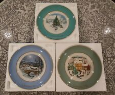 Avon Christmas Plates 1978, 1979, 1980 - Set of 3 Collectibles - Wedgewood China
