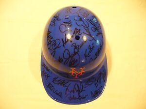 New York Mets Autographed Full Size Helmet - (50 Signatures) - Very Nice
