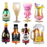 Birthday Party Supplies Whiskey Wine Bottle Beer Cup Balloon 30th 40th Balloons