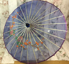 Vintage Japanese Parasol Delicate Fabric with Embroidery **Needs Some TLC**