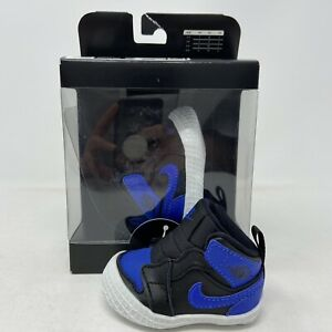 Nike Air Jordan 1 Crib Bootie Black Blue Varsity Royal New  AT3745-007