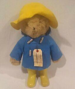 "Vintage 1975 Paddington Bear Plush Teddy Yellow Hat Blue Coat Eden Toys 20"" Tall"