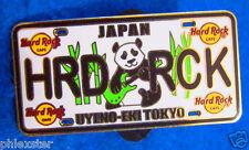 UYENO-EKI TOKYO JAPANESE LICENSE PLATE SERIES '15 GIANT PANDA Hard Rock Cafe PIN