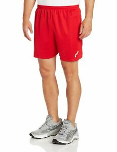 ASICS Men's Rival Atheltic Shorts, Red