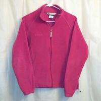 Columbia Full Zip Fleece Jacket Women's Medium M Pink