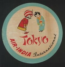 Airline label luggage labels Air India to Japan #426