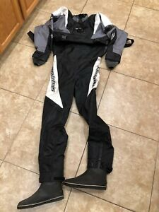 Mobby's Scuba Diving Dry Suit Size L/XL with 9.5 boots