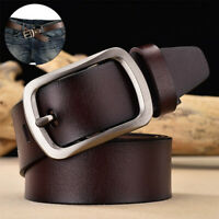 Charm Mens Leather Adjustable Belt Casual Pin Buckle Waist Waistband Belts Strap