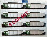 Kato N Scale Bethgon Protein Gondola 8-Car Burlington Northern Set #1 # 106-4650
