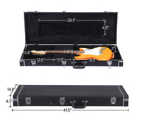Electric Guitar Case Hard Shell Telecaster Stratocaster Style Lockable Latch NEW
